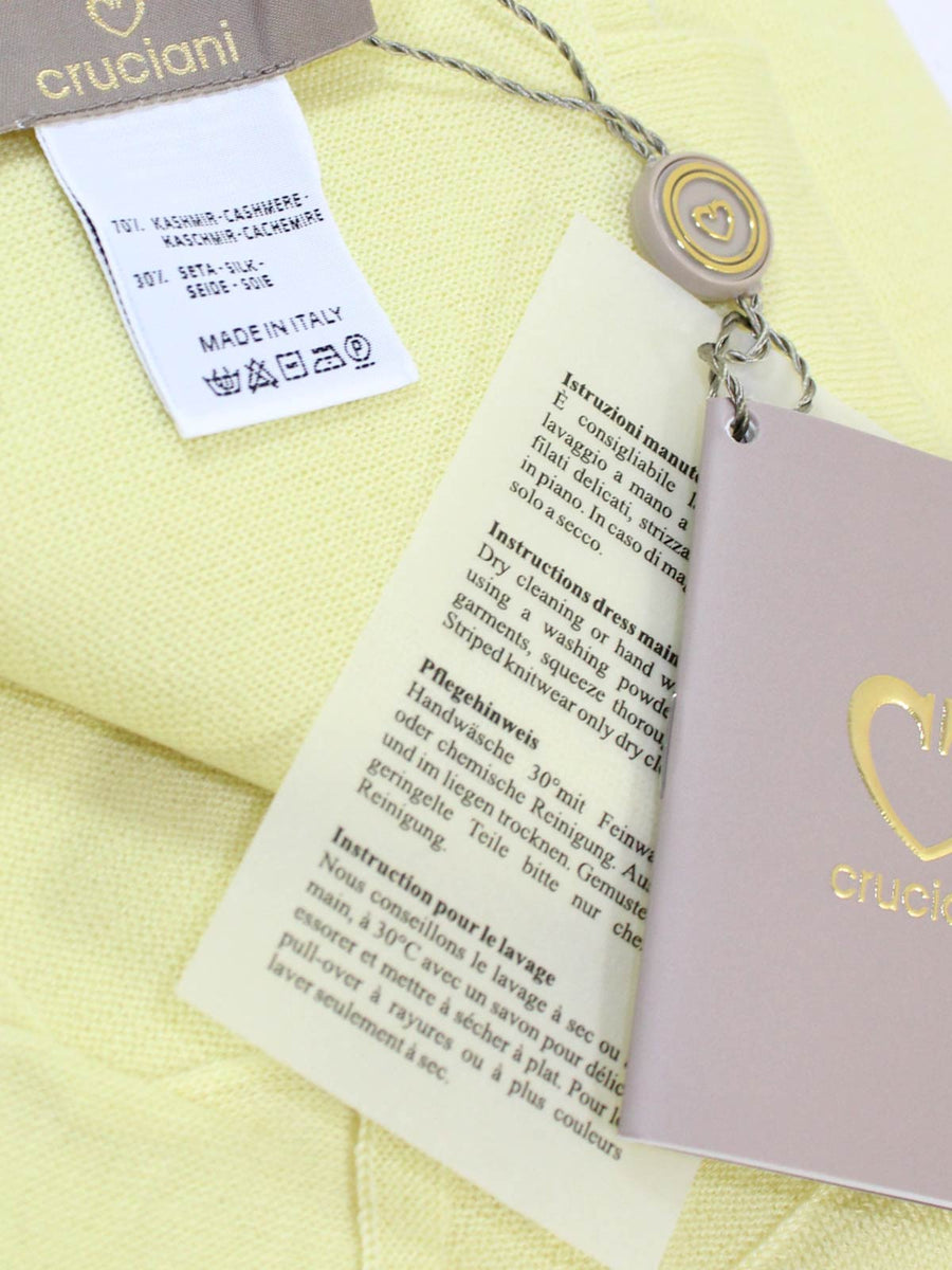 Cruciani Cashmere Silk Scarf Solid Light Yellow FINAL SALE