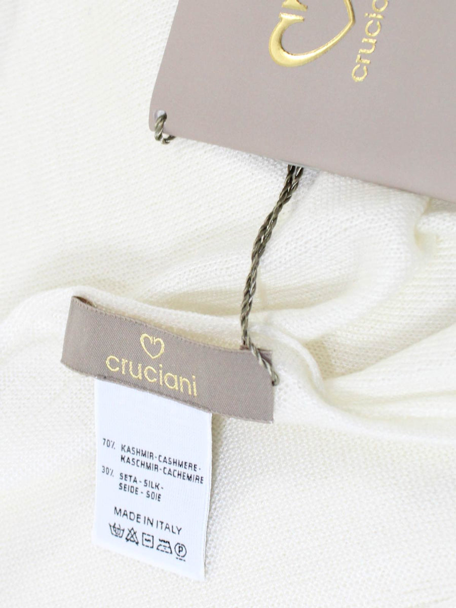 Cruciani Cashmere Silk Scarf Solid White FINAL SALE