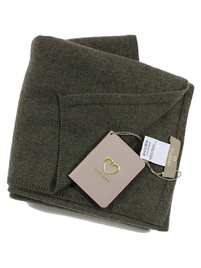 Cruciani Cashmere Scarf Solid Forest Green