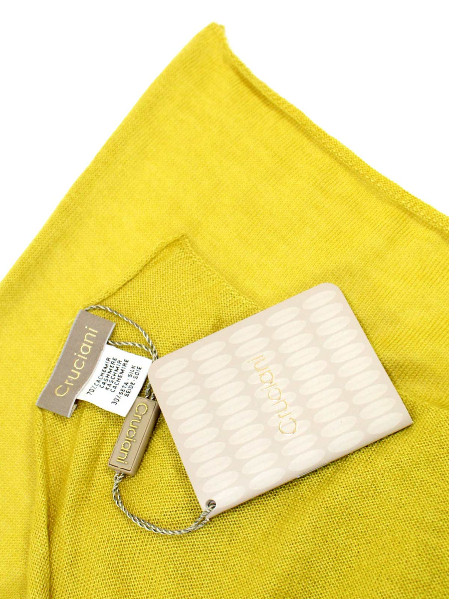 Cruciani Cashmere Scarf Solid Lemon-Lime
