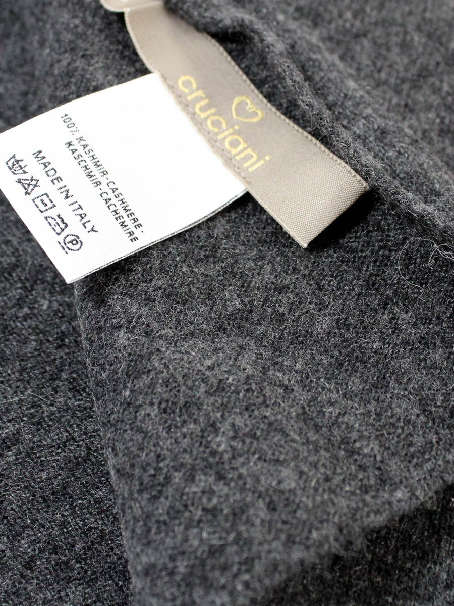 Cruciani Cashmere Scarf Solid Charcoal Gray