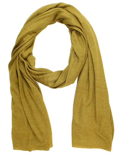 Cruciani Cashmere Silk Scarf Solid Olive Green FINAL SALE