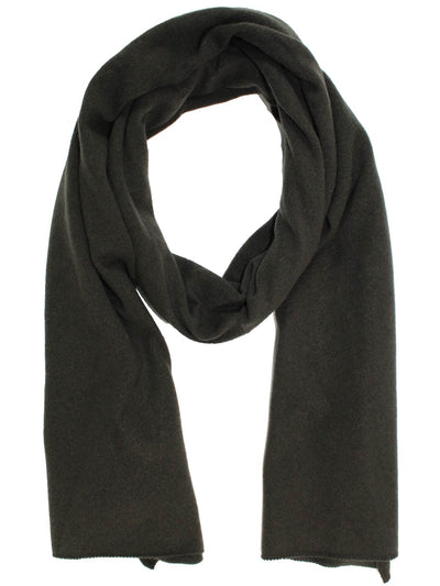 Cruciani Cashmere Scarf Forest Green Gray FINAL SALE