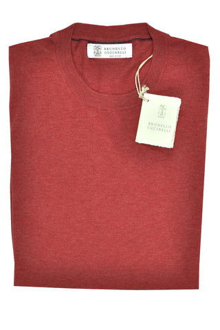 Brunello Cucinelli Cotton Dark Coral Red S