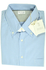 Brunello Cucinelli Sport Shirt Blue Stripes