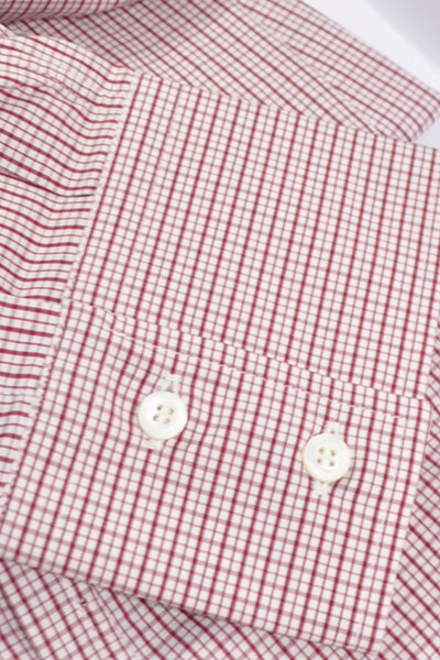 Brunello Cucinelli Button-Down Shirt White Burgundy XXXL SALE