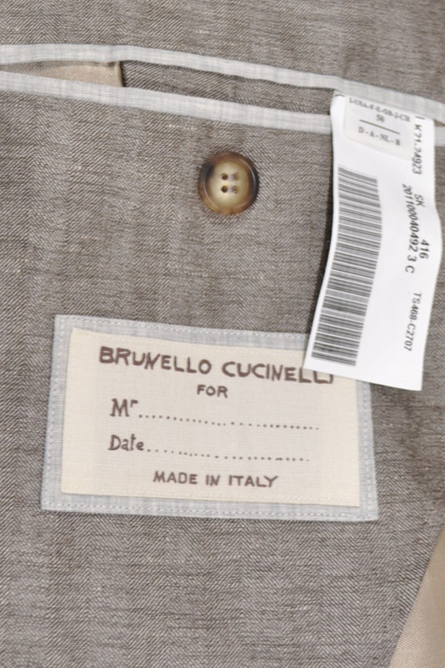 Brunello Cucinelli Sport Coat Brown Gray EUR 50 / US 40 R