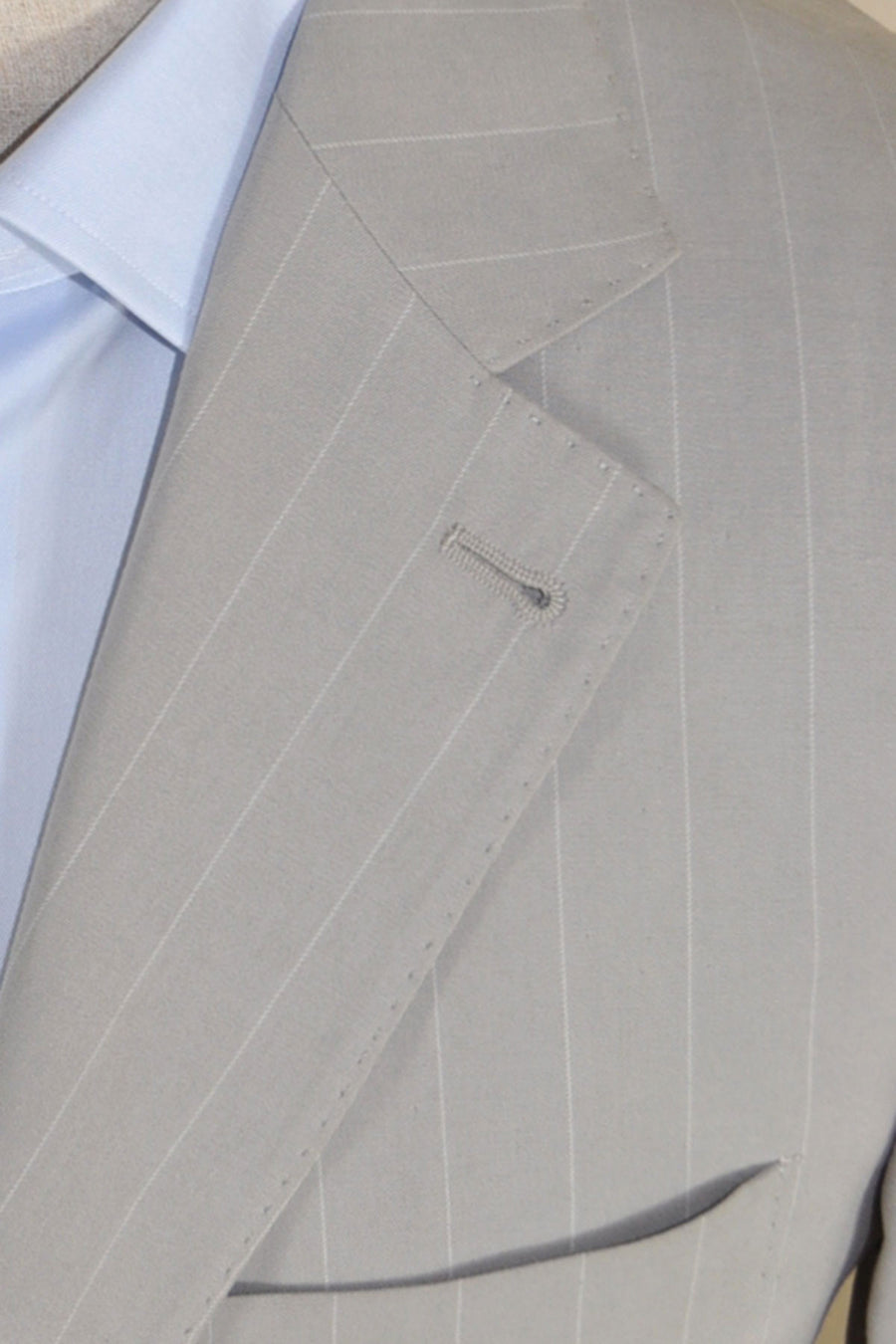 Brunello Cucinelli Sport Coat Gray Stripe Cotton