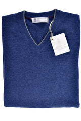 Brunello Cucinelli Cashmere Sweater Dark Blues