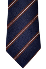 Brunello Cucinelli Tie Navy Stripes - Narrow Cut