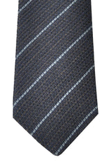 Brunello Cucinelli Tie Gray Blue Stripes