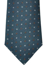 Brunello Cucinelli Tie Dark Green Dark Blue Brown Geometric