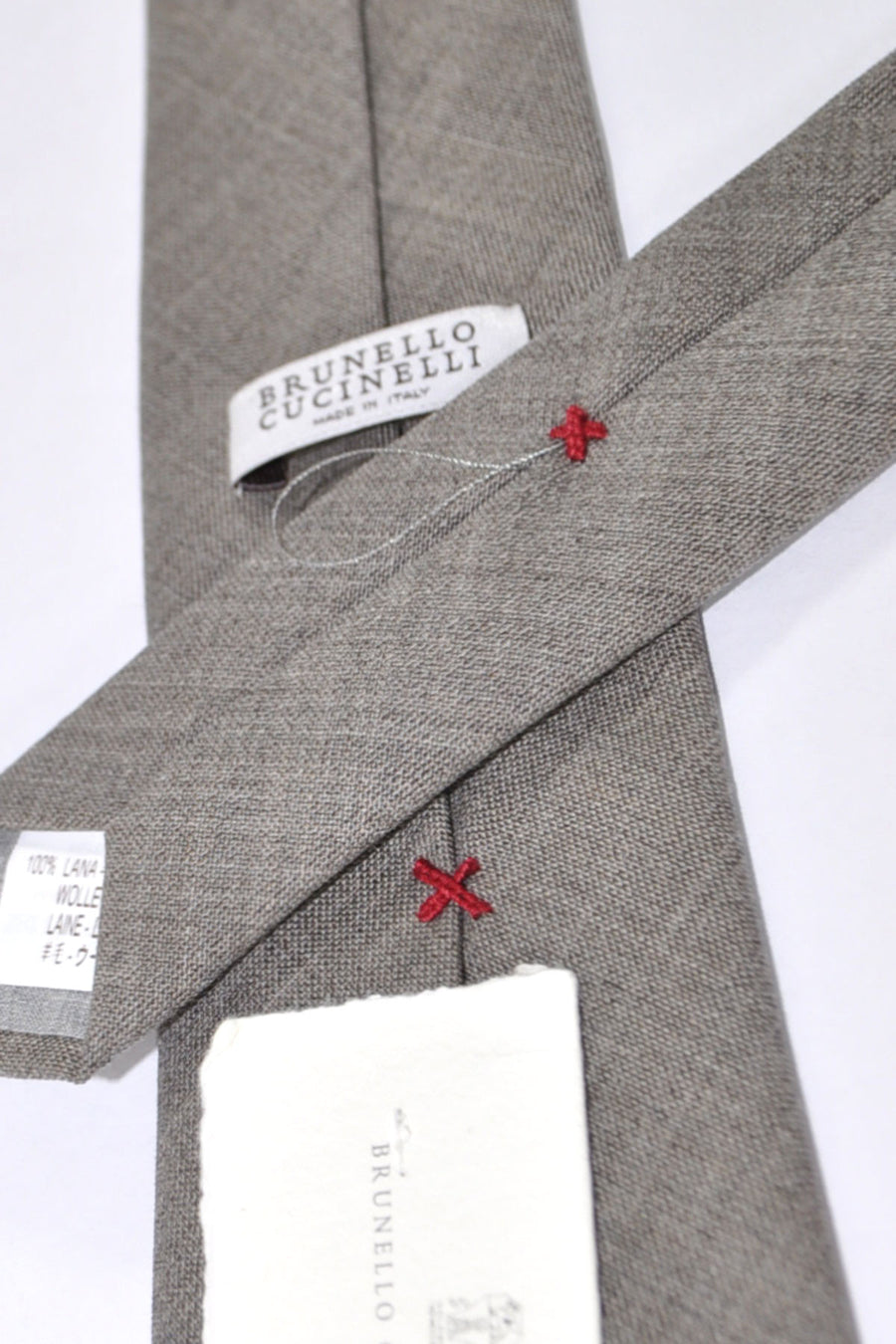 Brunello Cucinelli Silk Tie Gray Solid