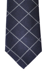 Brunello Cucinelli Silk Tie Navy Gray