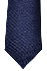 Brunello Cucinelli Silk Tie Navy Grosgrain - Narrow Cut