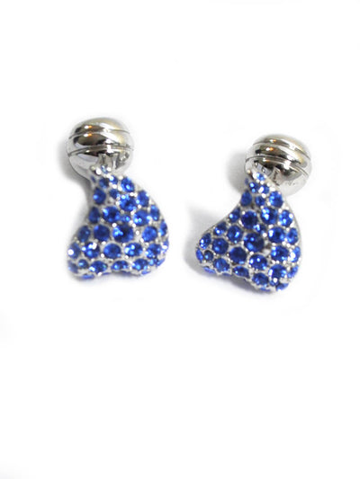 Duchamp Cufflinks Blue Crystals Hearts