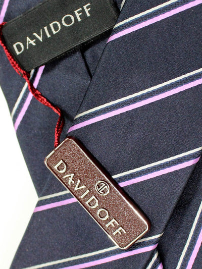 Davidoff Tie Midnight Blue Stripes - Hand Made In Italy SALE