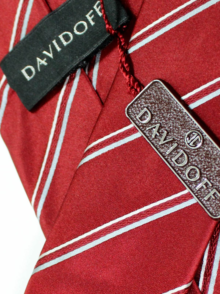 Davidoff Tie Maroon Stripes - Hand Made In Italy