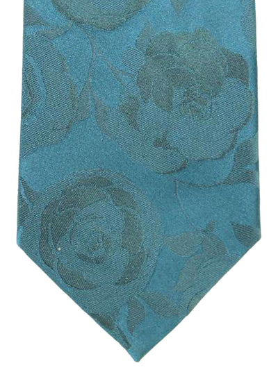 Davidoff Tie Dark Green Floral - Hand Made In Italy