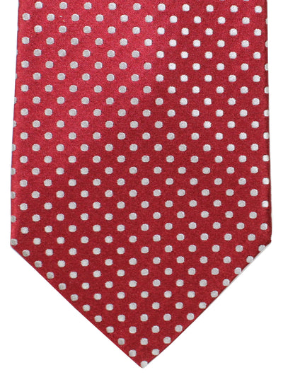 Davidoff Tie Burgundy White Dots - Hand Made In Italy