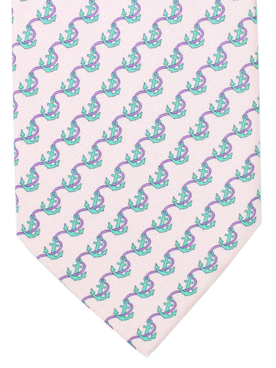 Davidoff Tie Pink Anchors - Hand Made In Italy