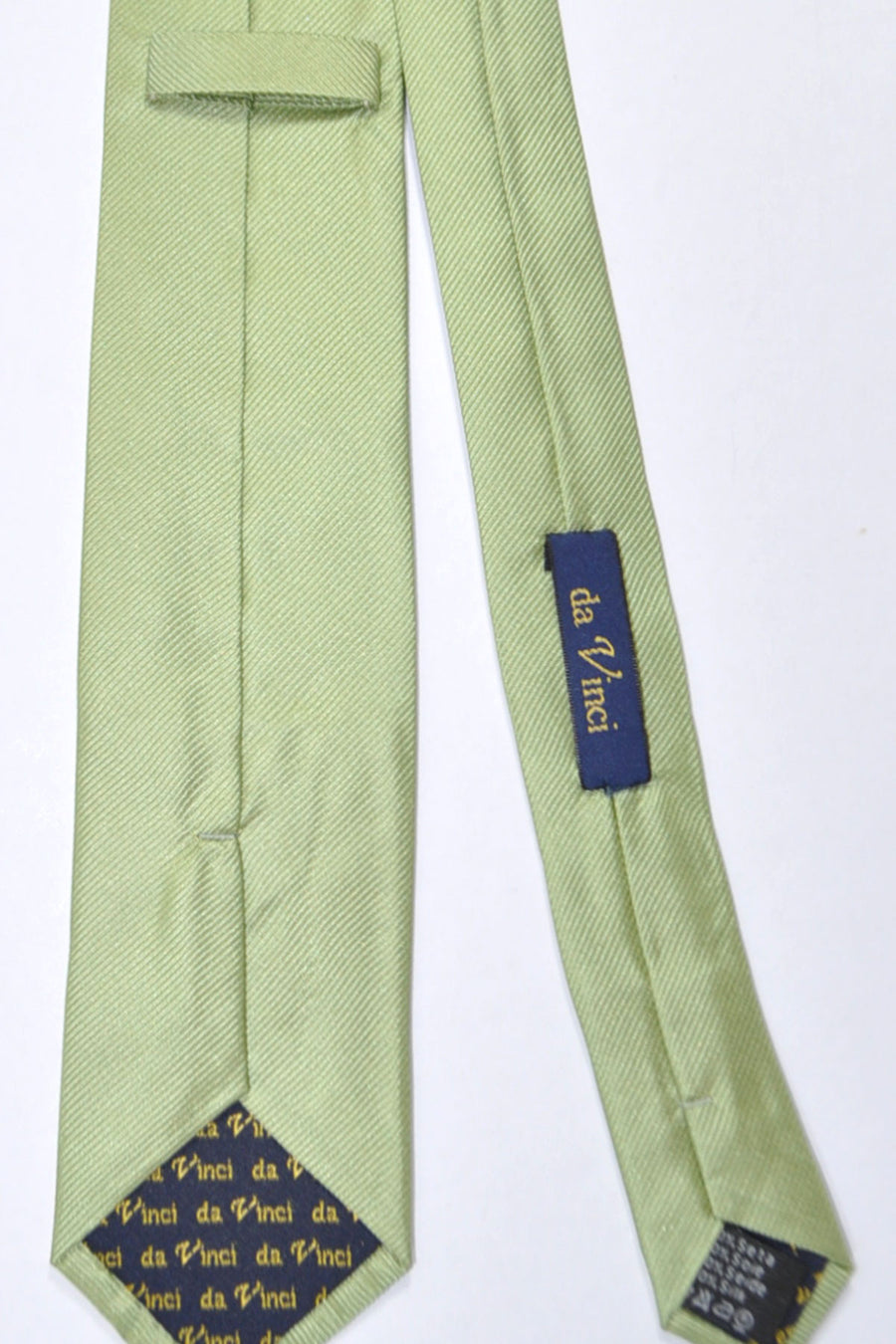 Da Vinci Narrow Tie Lime Grosgrain - Made in Italy