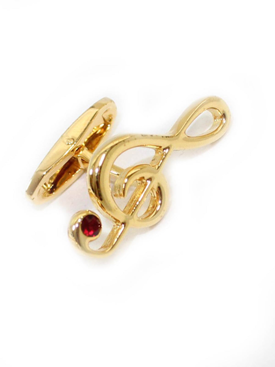 Cufflinks Gold Treble Clef