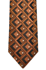 Dolce & Gabbana Skinny Tie Copper Black Silver Diamonds