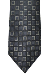 Dolce & Gabbana Skinny Tie Gray Black Silver Geometric FINAL SALE