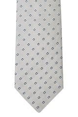 Dolce & Gabbana Skinny Tie Gray Silver Dark Brown Diamonds