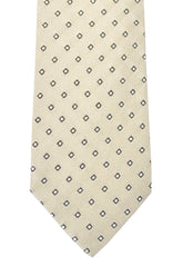 Dolce & Gabbana Skinny Tie Taupe Cream Diamonds