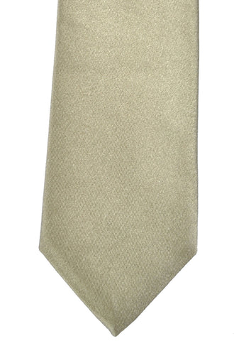 Dolce & Gabbana Skinny Tie Taupe Solid