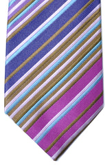 Duchamp Tie Purple Aqua Brown