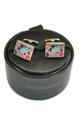 Duchamp Cufflinks Pink Dotted Rectangle