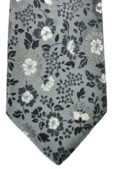 Duchamp Tie Gray Floral Design SALE