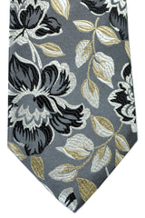 Duchamp Tie Gray Black Taupe Floral SALE