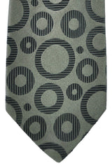 Duchamp Tie Gray Black Circles