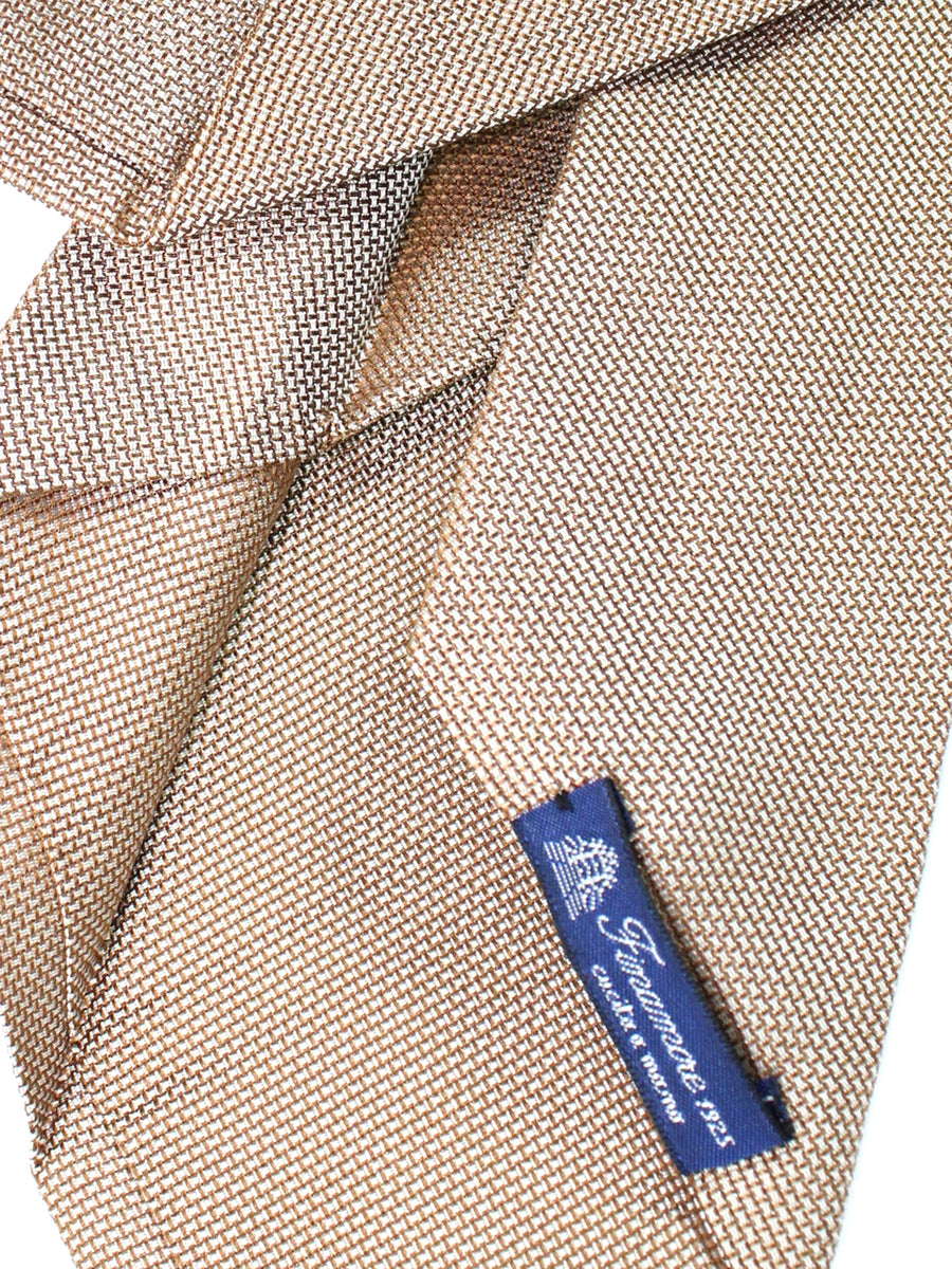 Finamore Sevenfold Tie Cream Taupe Solid
