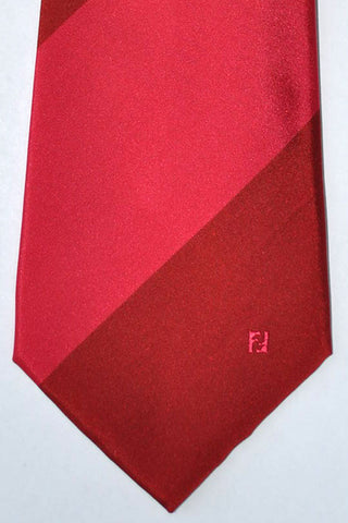 Fendi Tie Red Pink Thick Stripes