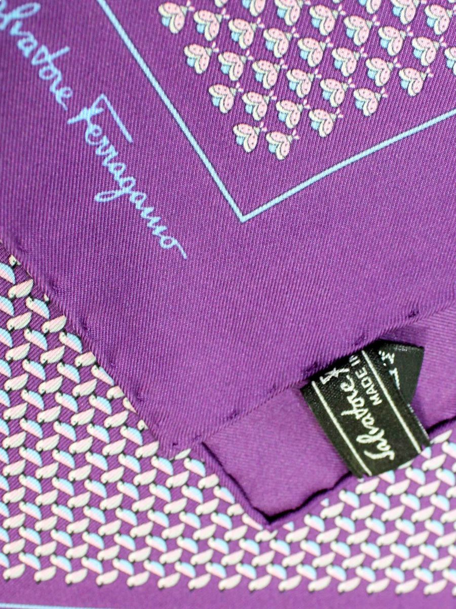 Salvatore Ferragamo Silk Pocket Square