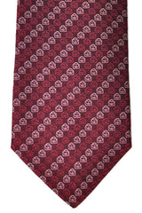 Salvatore Ferragamo tie with bordeaux briefcase