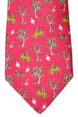 Salvatore Ferragamo Tie Pink Jungle