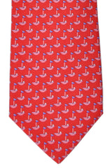 Salvatore Ferragamo Tie Red Golf Club