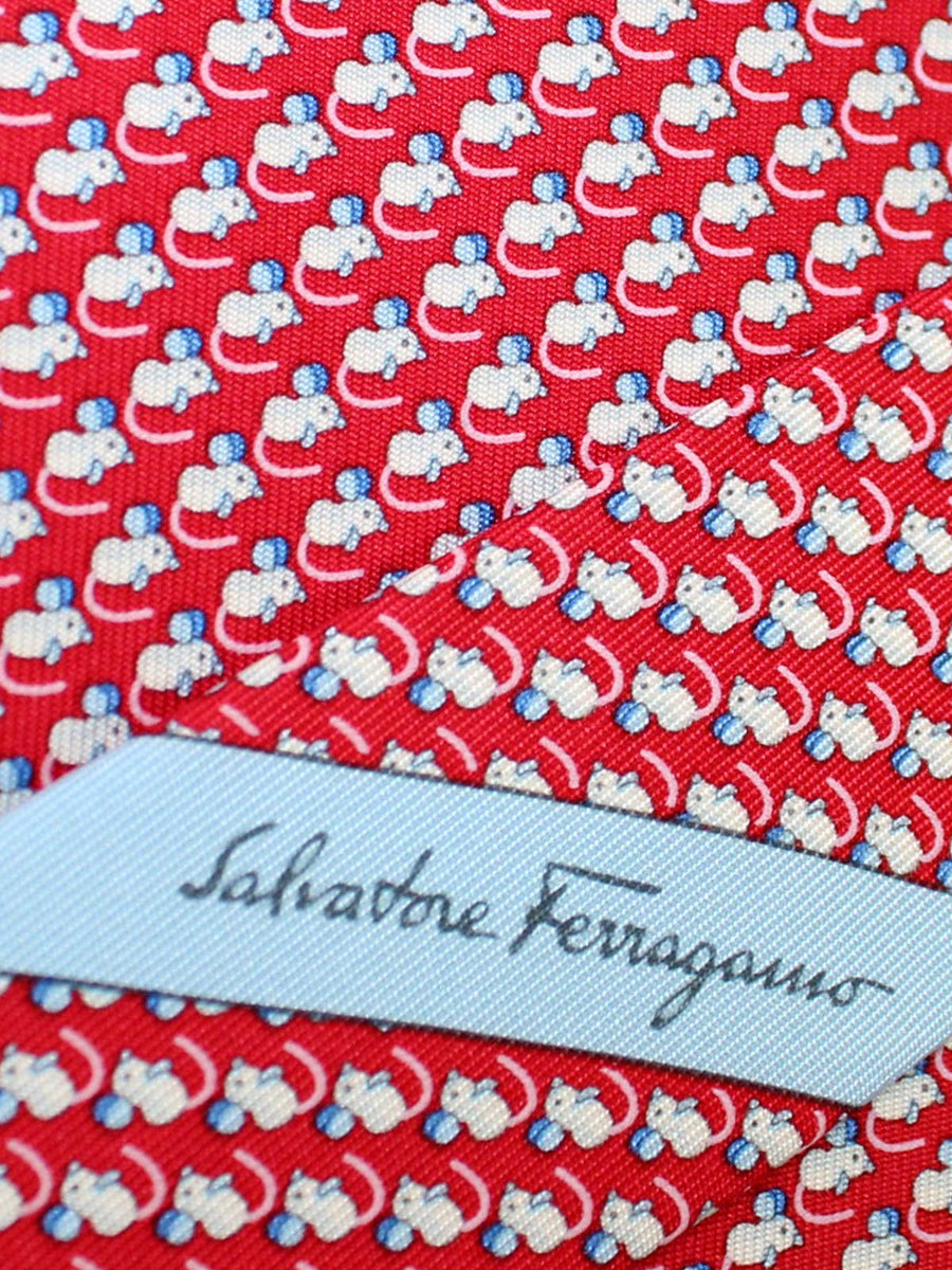 Salvatore Ferragamo Silk Tie Red Mouse