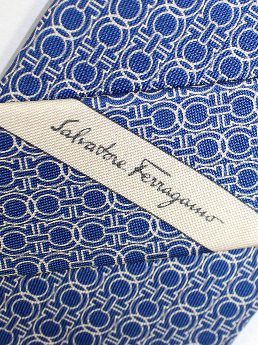 Salvatore Ferragamo Silk Tie Royal Gancini