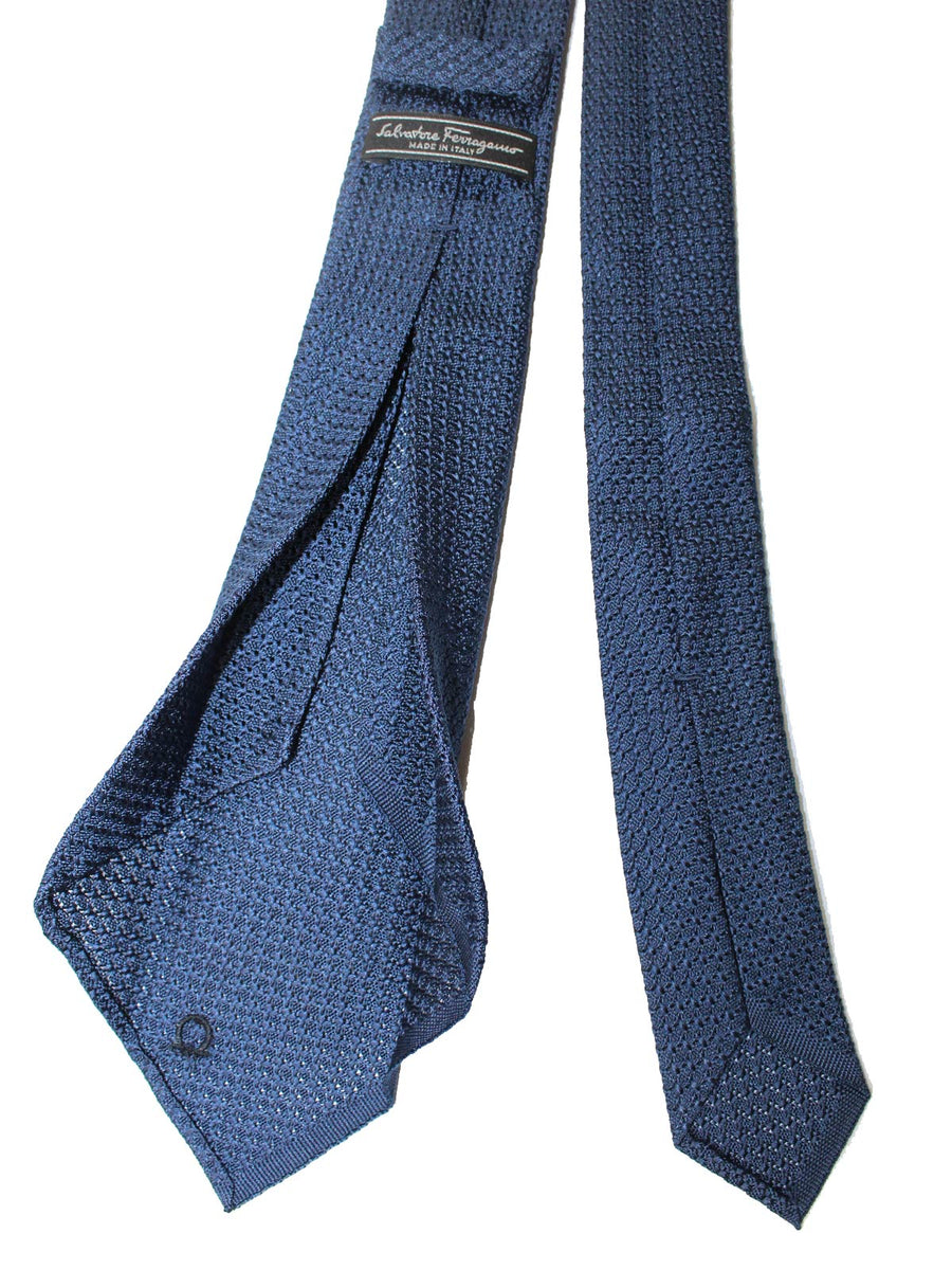 Salvatore Ferragamo Tie Navy Knitted