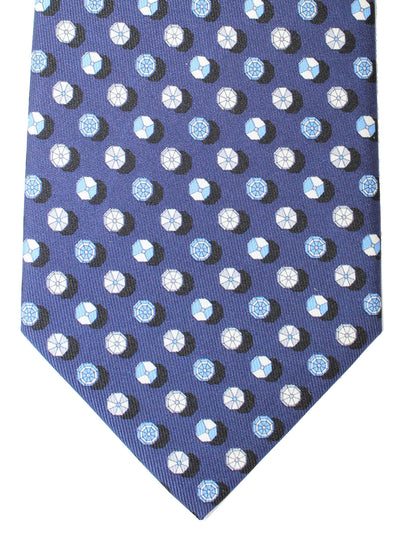 Salvatore Ferragamo Silk Tie Navy Umbrellas Novelty