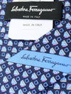 Salvatore Ferragamo Silk Tie Navy Gancini Novelty