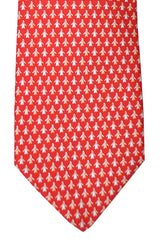 Salvatore Ferragamo Tie Red Penguin