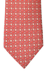 Salvatore Ferragamo Tie Red Orange
